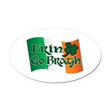 Erin Go Bragh v13 Oval Car Magnet