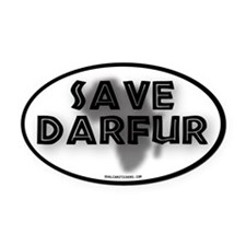 Save Darfur Oval Car Magnet