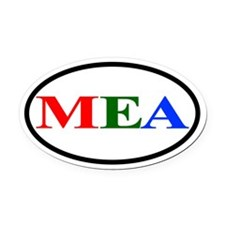 MEA Euro Oval Car Magnet