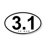 3.1 Run Oval Car Magnet