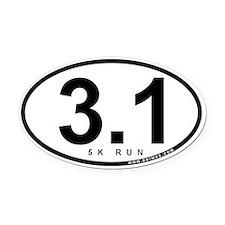 3.1 Run Oval Car Magnet