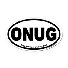 One Nation Under God ONUG Oval Car Magnet