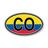 Columbia Euro Oval Car Magnet