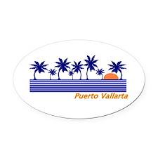 Cool Puerto vallarta Oval Car Magnet