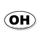 Ohio Oval Car Magnet