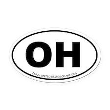 Ohio Oval Car Magnet