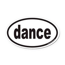 dance euro Oval Car Magnet
