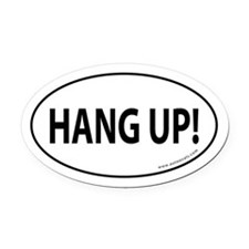 HANG UP Auto Oval Car Magnet -White (Oval)