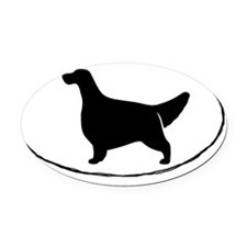 Euro Style English Setter Oval Car Magnet