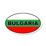 Bulgarian Flag Oval Car Magnet