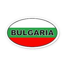 Bulgarian Flag Oval Car Magnet