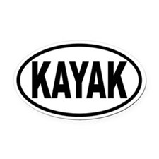 KAYAK Oval Oval Car Magnet