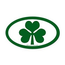 Shamrock Euros Oval Car Magnet