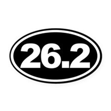 26.2 Full Marathon Oval Euro Oval Car Magnet Black