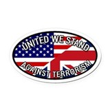 UK GB USA United We Stand Oval Car Magnet