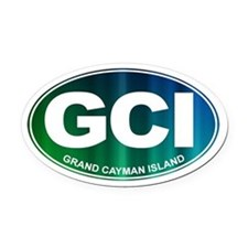 GCI - Grand Cayman Island - Oval Car Magnet