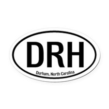 Durham, North Carolina Oval Car Magnet