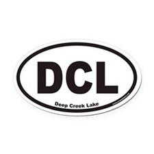 Deep Creek Lake DCL Euro Oval Car Magnet