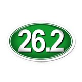 26.2 GREEN Marathon Oval Car Magnet