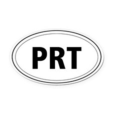 Parson Russell Terrier Oval Car Magnet