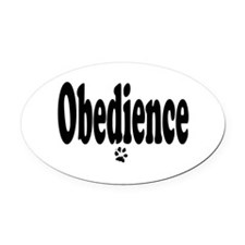 Obedience Oval Car Magnet