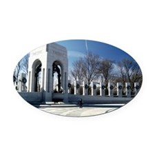 World War II Memorial Oval Car Magnet