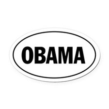 OBAMA - White Oval Car Magnet