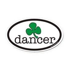 Irish Dancer Euro Oval Car Magnet