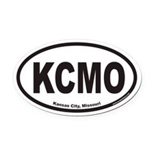Kansas City Missouri KCMO Euro Oval Car Magnet