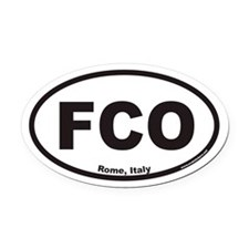 FCO Euro Oval Car Magnet for Rome Italy