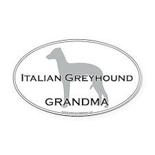 Italian Greyhound GRANDMA Oval Car Magnet