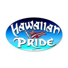 Hawaiian Pride Oval Car Magnet