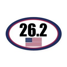 United States full marathon Oval Car Magnet