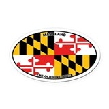 Maryland State Flag Oval Car Magnet