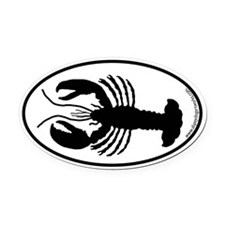 Lobster SILHOUETTE Oval Car Magnet