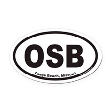 Osage Beach OSB Euro Oval Car Magnet