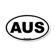 Australia Oval Car Magnet