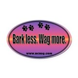 Funny Border collie Oval Car Magnet