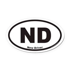 New Driver ND Euro Oval Car Magnet