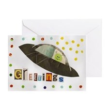 Flying Saucer Greeting Card