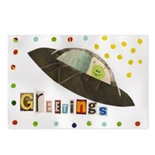 Flying Saucer Postcards (Package of 8)