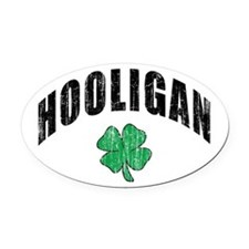Irish Hooligan Oval Car Magnet