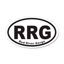 Red River Gorge RRG Euro Oval Car Magnet