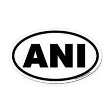ANI Euro Oval Car Magnet