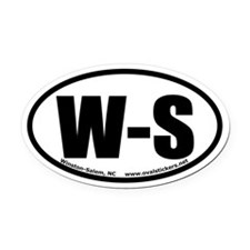 Winston-Salem, North Carolina Oval Car Magnet