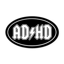 AD/HD Oval Car Magnet