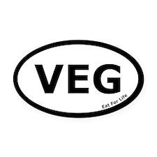 Vegetarian Euro Oval Car Magnet