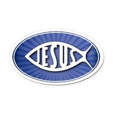 JESUS - Oval Car Magnet