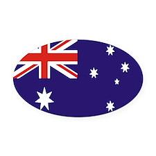 Australian Flag Oval Car Magnet