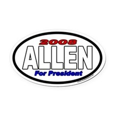 Allen For President 2008 Euro Style Oval Car Magne